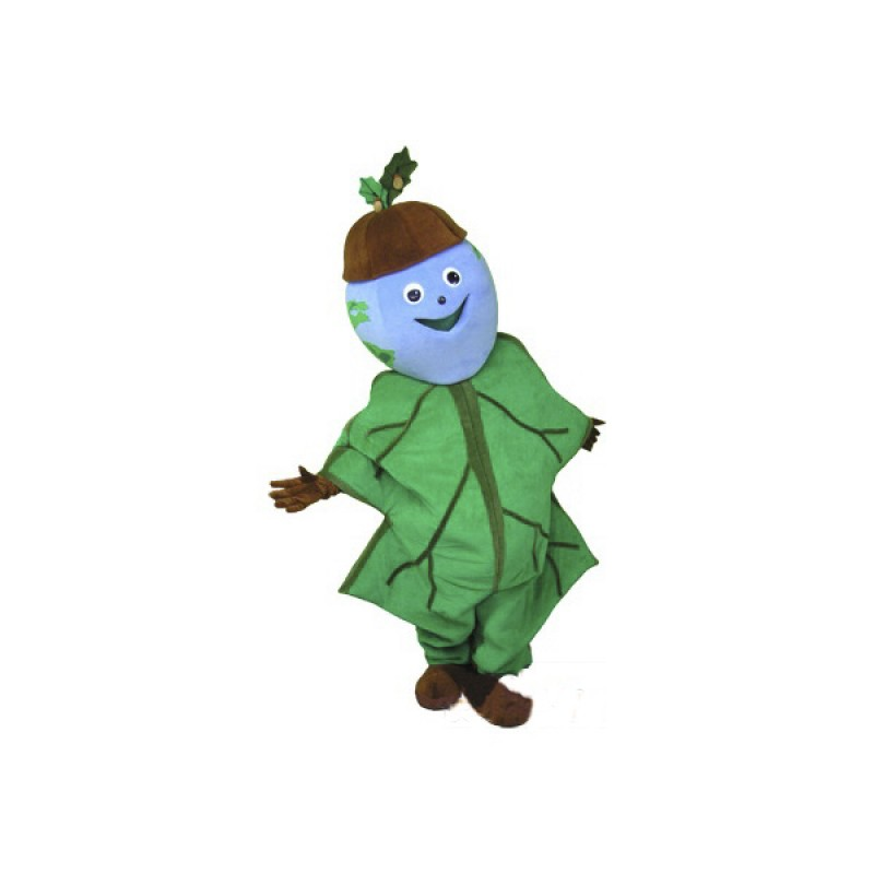 Cartoon Character Oak Leaf Mascot Costume Free Shipping