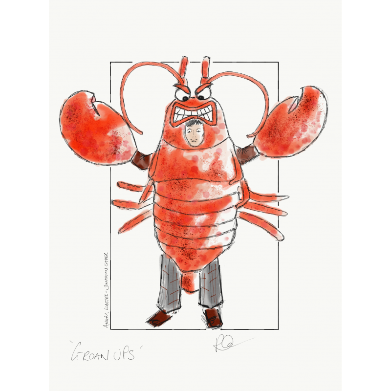 Big Claws Lobster Mascot Costume in Drawing Free Shipping
