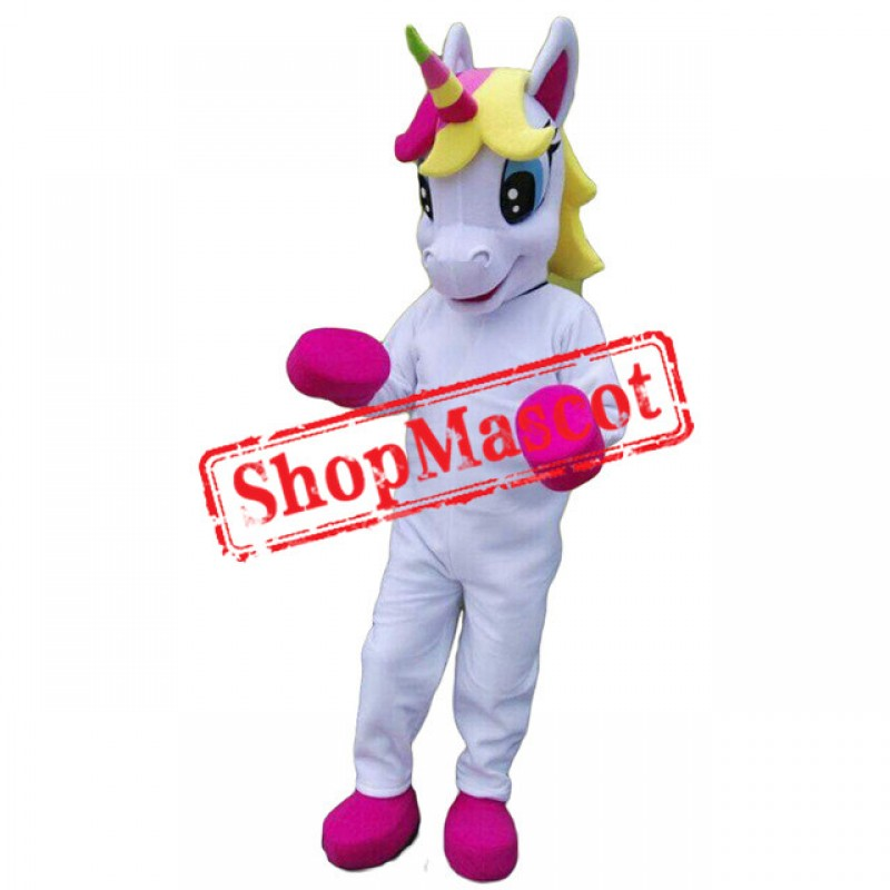 Unicorn Mascot Costume Horse Mascot Costume Parade Quality Clowns Birthdays For Adult