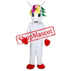 Unicorn Mascot Costume Flying Horse Mascot Costume Rainbow Pony Fancy Dress Costume For Adult Animal Halloween Party
