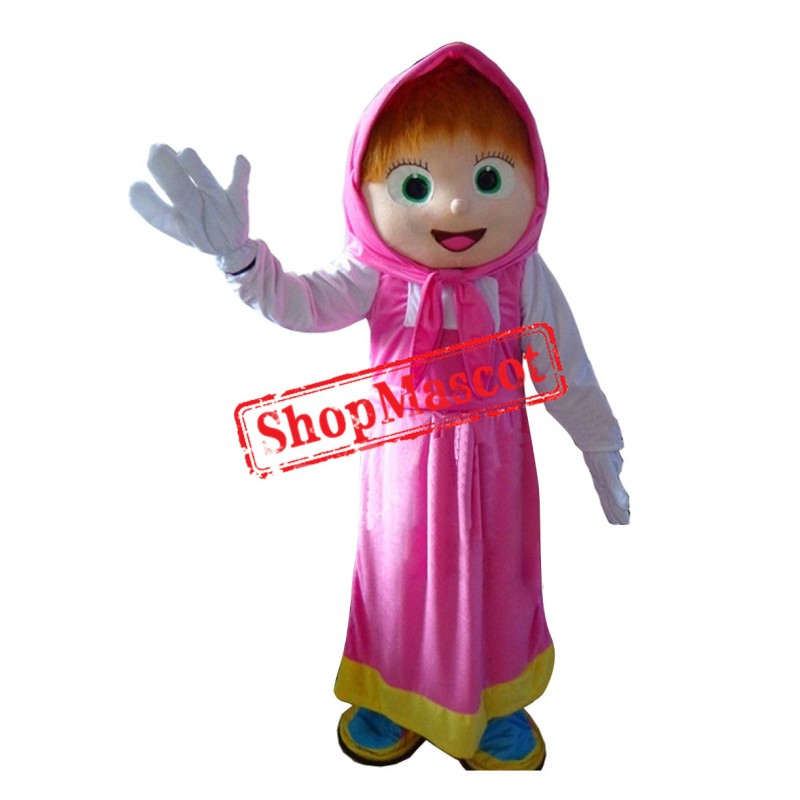 High Quality Girls Mascot Bear Ursa Grizzly Mascot Costume Cartoon Character Free Shipping