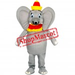 Dumbo Mascot Costume Grey Elephant Mascot Cosutme Fancy Dress For Halloween Party