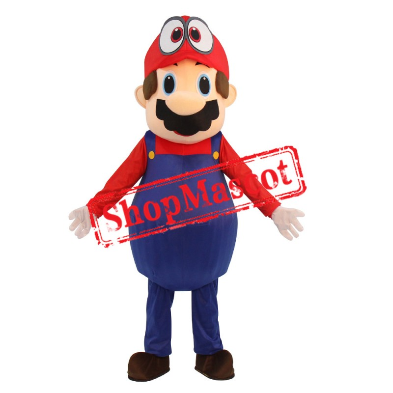 Super Mario Odyssey Adult Hat Mascot Costume Fancy Dress Lovely Brothers Suit For Halloween Party Event