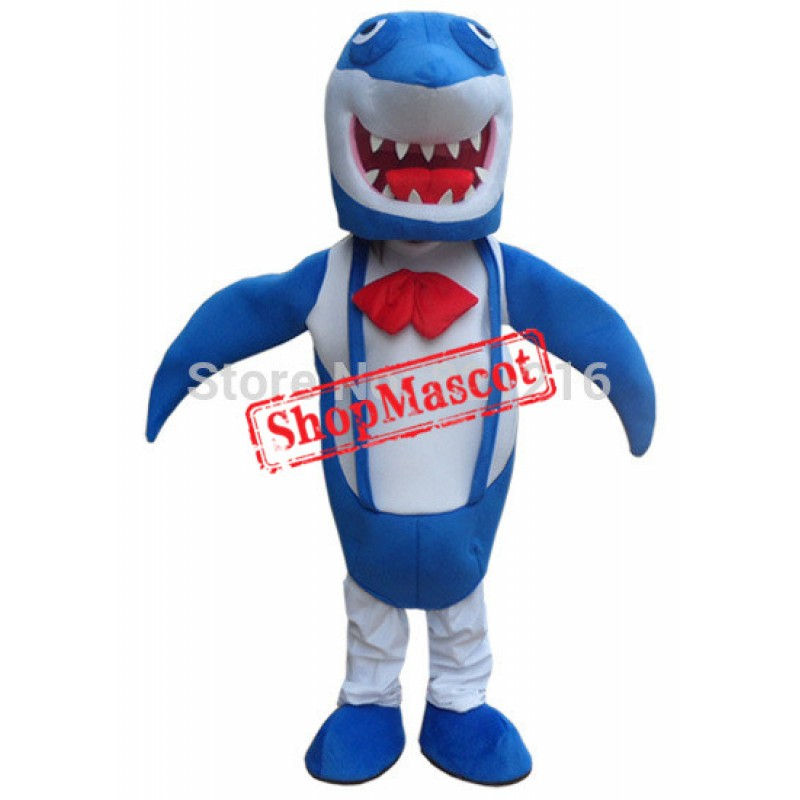 Professional New Blue Shark Mascot Costume Adult Size Fancy Dress