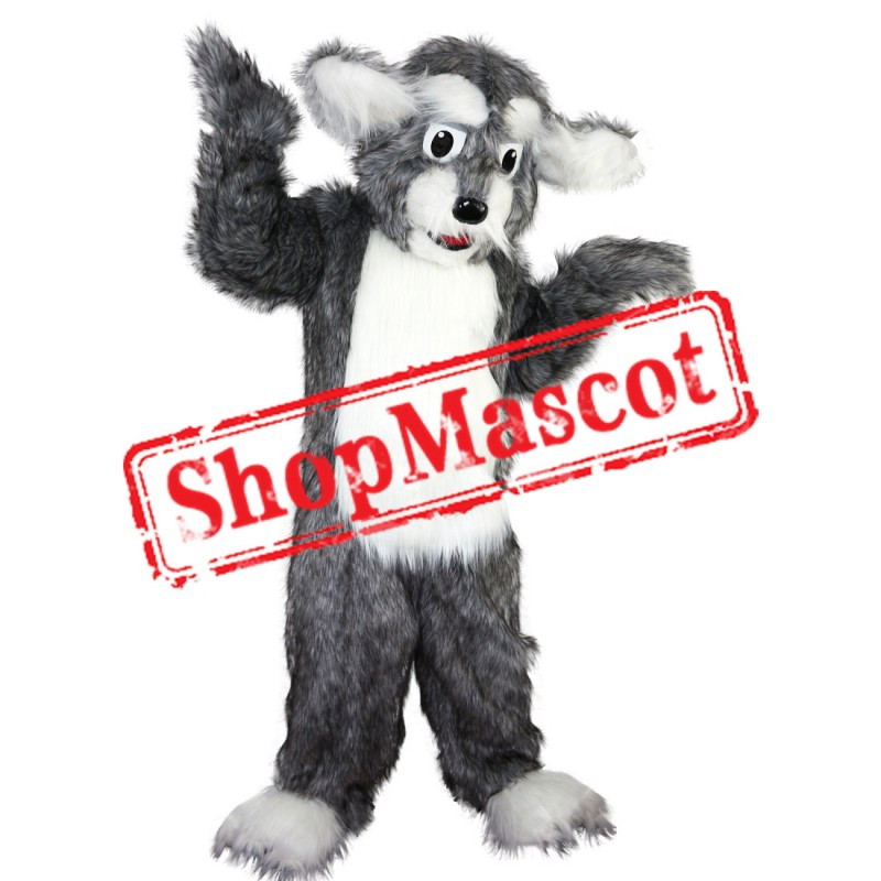 Grey Dog Fursuit Mascot Costume Free Shipping
