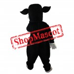 Fierce Black Cow Mascot Costume Free Shipping