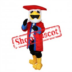 College Sport Red Eagle Mascot Costume Free Shipping
