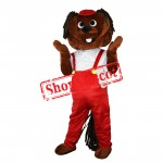 Red Rompers Cute Mole Mascot Costume Free Shipping