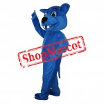 Cartoon Blue Leopard Mascot Costume Free Shipping