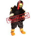 Power Turkey Mascot Costume For Christmas