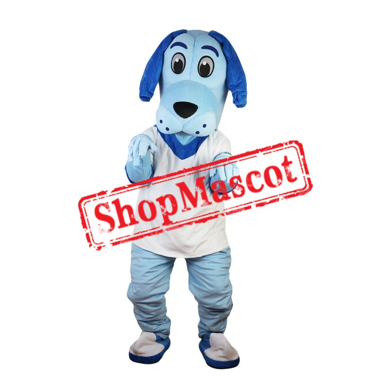 Blue Cute Dog Mascot Costume For Halloween