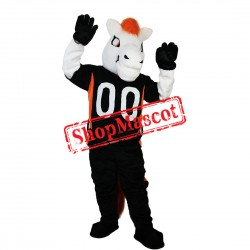 Sport White Horse Mascot Costume For School