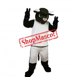 Black Bull Mascot Costume For School