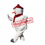 Christmas Snowman Mascot Costume Hot Sale Red Hat