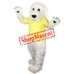 White Dog Furry Mascot Costume