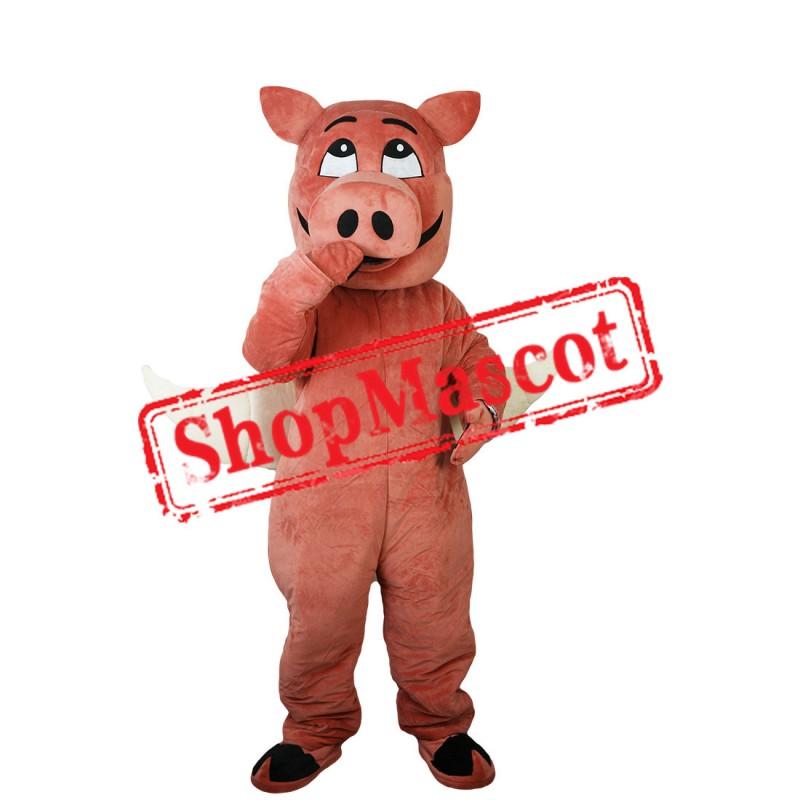 Cute Fly Pig Mascot Costume