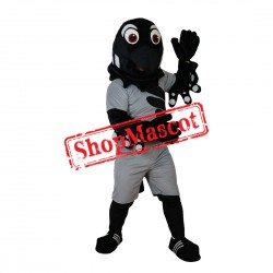 Sport Black & Grey Eagle Mascot Costume