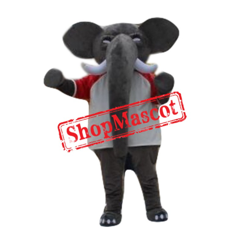 High Quality Grey Elephant Mascot Costume