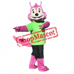 High Quality Pink Dragon Mascot Costume