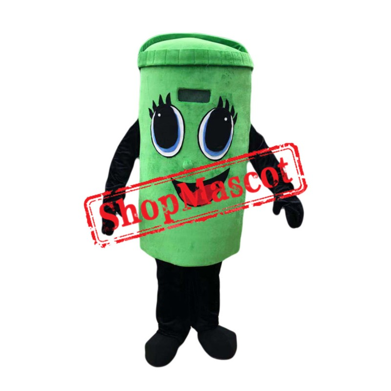 High Quality Green Trash Mascot Costume