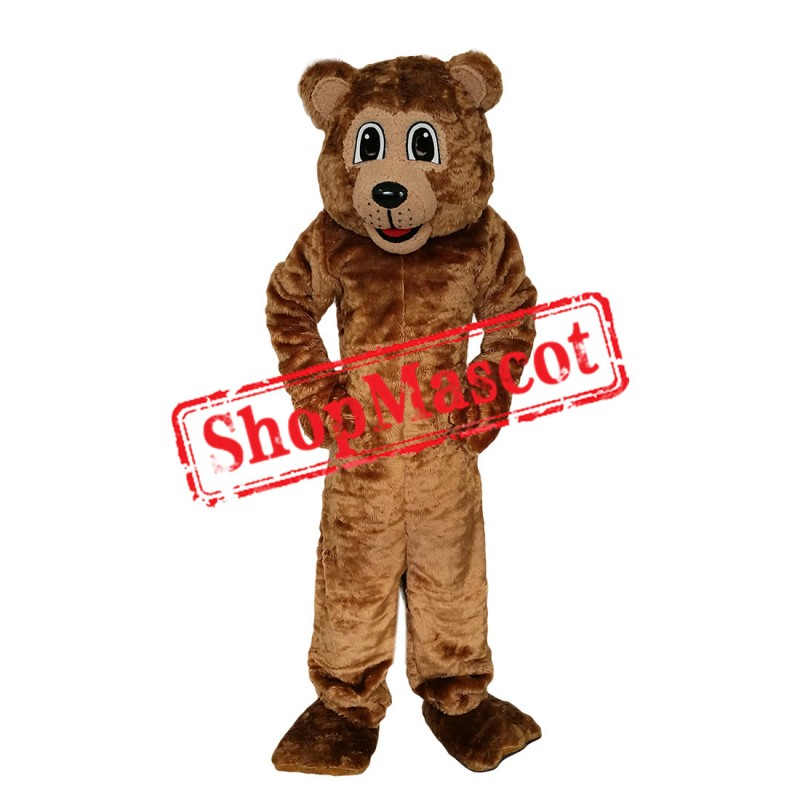 High Quality Brown Power Bear Mascot Costume