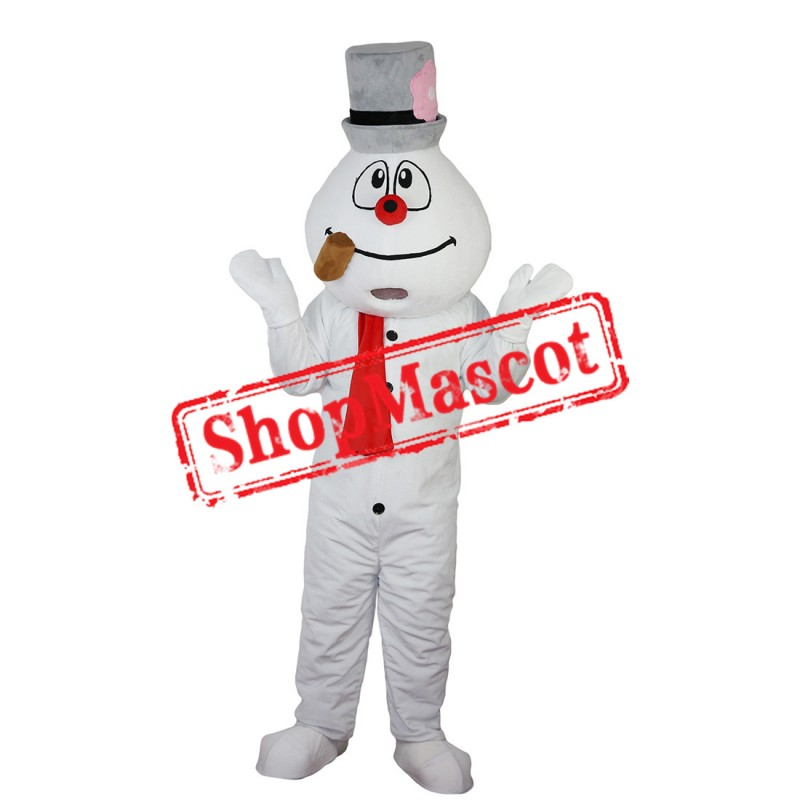 High Quality Christmas Snowman Mascot Costume