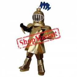 High Quality Golden Knight Mascot Costume