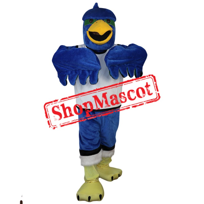 High Quality Blue Hawk Mascot Costume