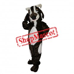 High Quality Black & White Goat Mascot Costume