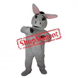 High Quality Grey Donkey Mascot Costume