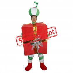 High Quality Green Christmas Gift Mascot Costume
