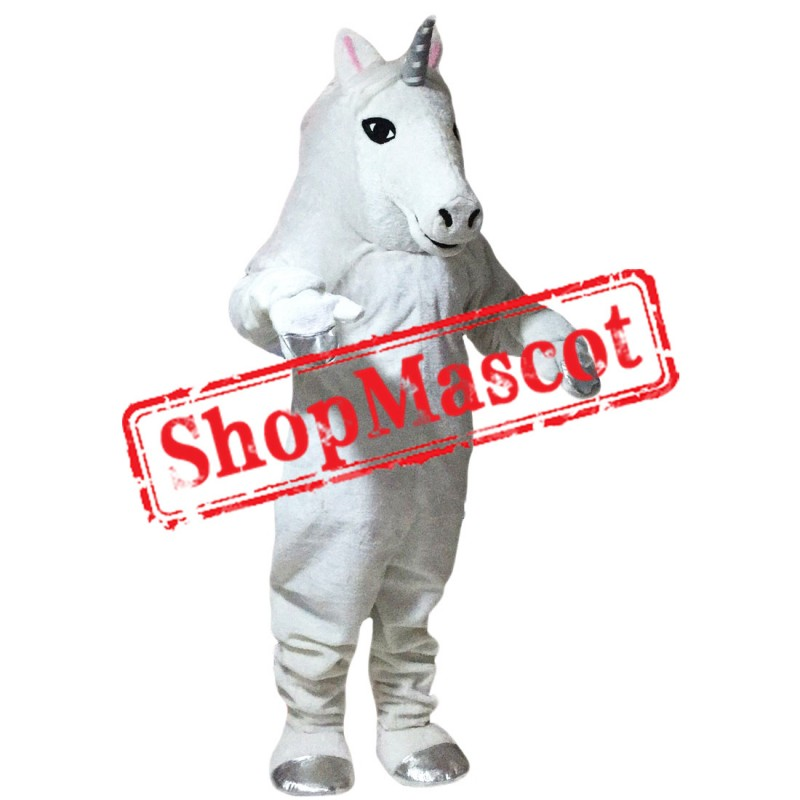 High Quality White Horse Mascot Costume