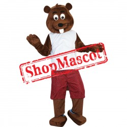 High Quality Brwon Beaver Mascot Costume