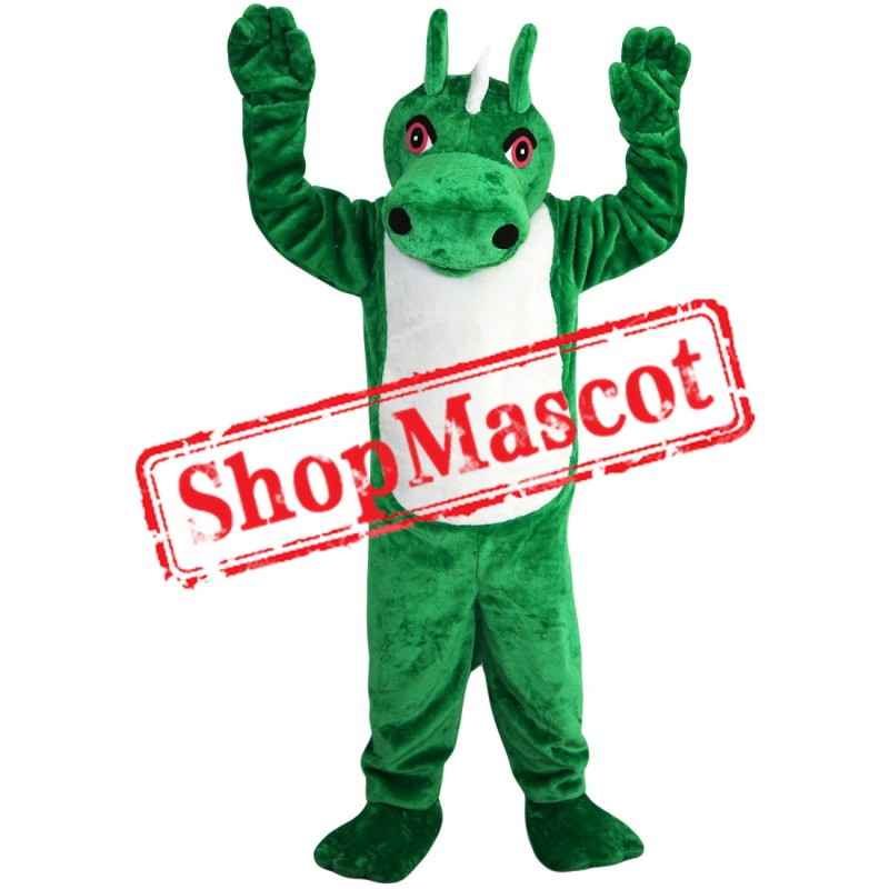 High Quality Green Dragon Mascot Costume