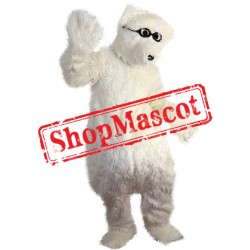 High Quality Black Glass Polar Bear Mascot Costume