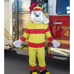 Top Quality Fire Dog Mascot Costume for Adult