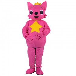 Hot selling Cute Pink Fox Baby Mascot Costume