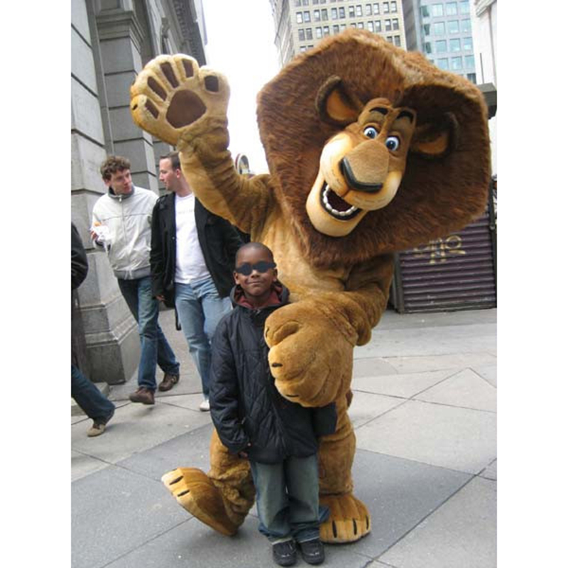 Alex The Lion Madagascar Mascot Costume
