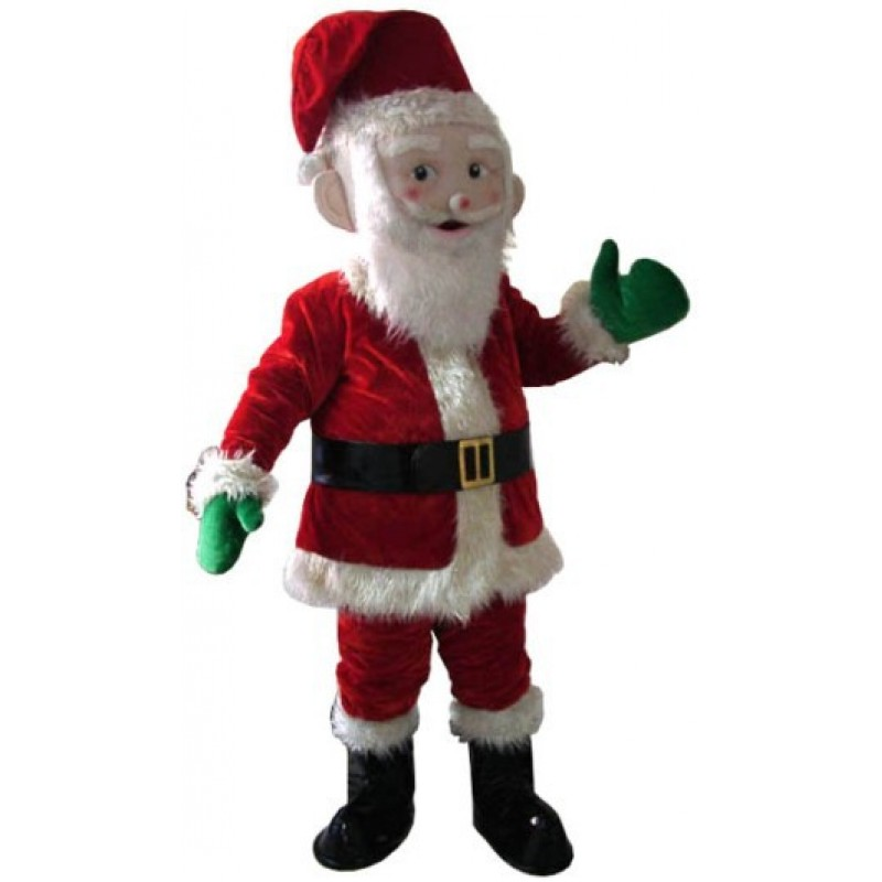Santa Claus Mascot Costume Adult Size Christmas