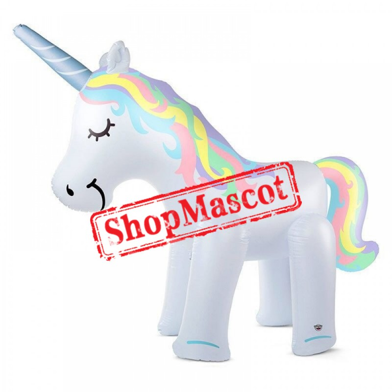 Inflatable Unicorn Yard Sprinkler Toy Adult & Kids Spray Water Toy Outdoor Party
