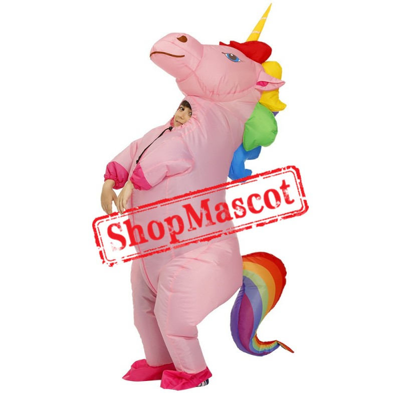 Blow Up Costume Inflatable Unicorn Costumes Halloween Funny Suit For Kids