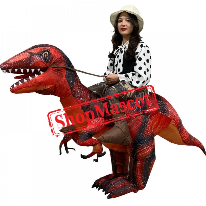 Blow Up T Rex Costume Inflatable Dinosaur Costumes Halloween Funny Suit For Adult