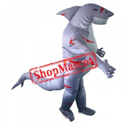 Inflatable Costume Blow Up Shark Costumes Halloween Funny Suit For Adult