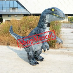 Inflatable Velociraptor Costume Blow Up Dinosaur Costumes Halloween Funny Suit For Adult
