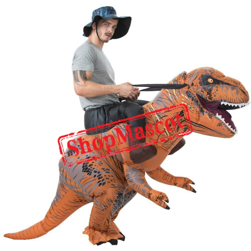 Inflatable Dinosaur Costume Blow Up Dinosaur Costumes Halloween Funny Suit For Adult