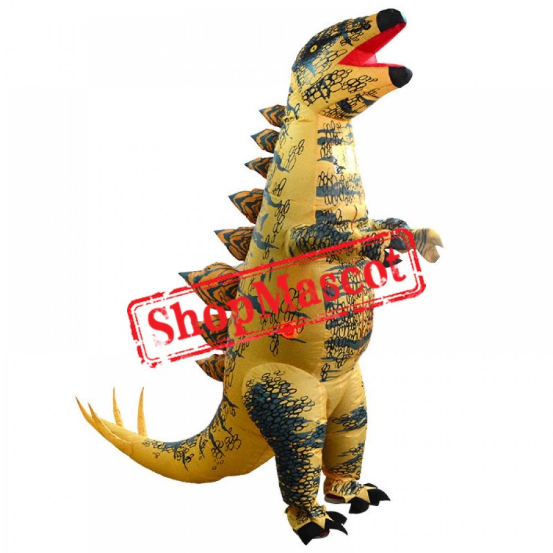 Inflatable Stegosaurus Costume Blow Up Dinosaur Costumes Halloween Funny Suit For Adult
