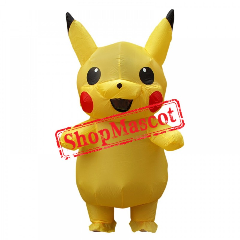 Inflatable Costume Pikachu Pokemon Mascot Child Costum For Kids US delivery