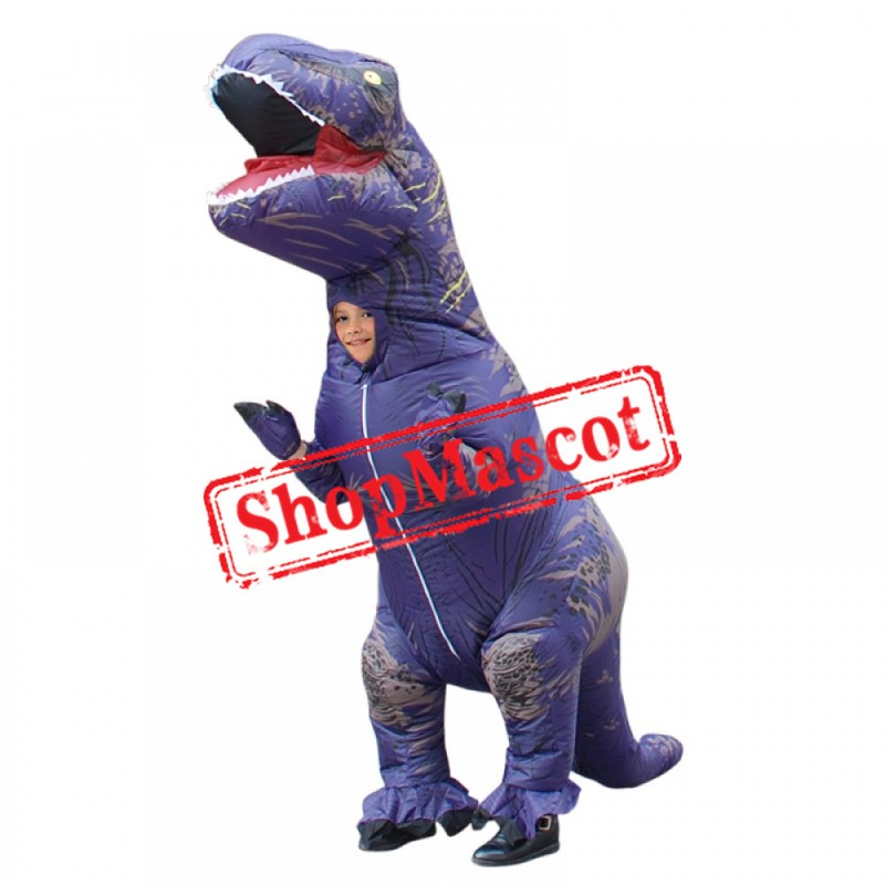 Blow Up Costumes Inflatable Dinosaur T Rex Costume Halloween Suit For Children