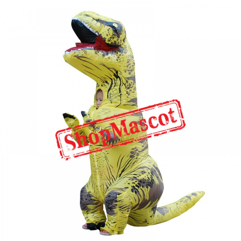 Boys & Girls Blow Up Costumes Inflatable Dinosaur T Rex Costume Halloween Suit