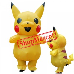 Inflatable Pikachu Costume Blow Up Pikachu Costumes Halloween Funny Suit
